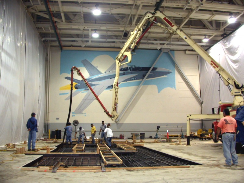 Machine Foundation for Automated F-18 Assembly - Brian Construction Co., Inc.